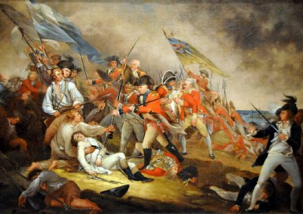Trumbull, John: The Death of General Warren at the Battle of Bunker's Hill. Historical/Military Fine Art Print/Poster. Sizes: A1/A2/A3/A4 (001200)